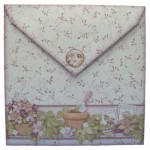 Pottering In My Garden Over The Top Easel Card - envelope back