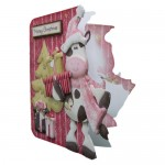 Mooey Christmas Decoupage Shaped Fold Card - view 2
