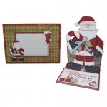 May Your Christmas Be Merry Santa Shaped Easel Card - set