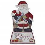 May Your Christmas Be Merry Santa Shaped Easel Card