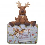 Resting Reindeer Over The Top Card - view 1
