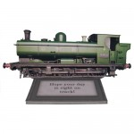 Steam Locomotive Decoupage Shaped Easel Card