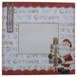 Here Comes Santa Decoupage Shaped Fold Card - envelope front