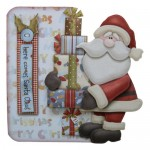 Here Comes Santa Decoupage Shaped Fold Card - view 1