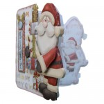Here Comes Santa Decoupage Shaped Fold Card - view 2
