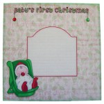 Baby's First Christmas Round Topped Card - envelope