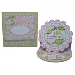 A Perfect Pair Decoupage Scalloped Plate Easel Card - set