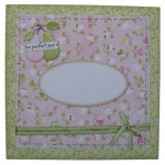 A Perfect Pair Decoupage Scalloped Plate Easel Card - envelope