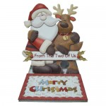 Christmas Dual Greetings Shaped Easel Card