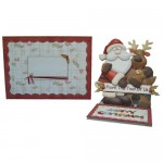 Christmas Dual Greetings Shaped Easel Card - finished set