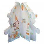 Cheeky Birthday Monkey Shaped Fold Card - inside view