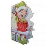 Christmas Elf Bearing Gifts Shaped Fold Card - view 2
