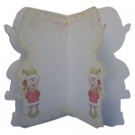 Christmas Elf Bearing Gifts Shaped Fold Card - inside view