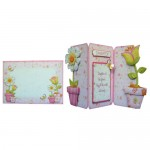Like Flowers Shaped Tri Fold Card - finished set