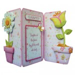 Like Flowers Shaped Tri Fold Card