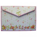 Like Flowers Shaped Tri Fold Card - envelope back