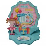 Make a Wish Double Decker Wavy Edged Round Easel Card - view 1