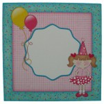 Make a Wish Double Decker Wavy Edged Round Easel Card - envelope