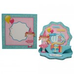 Make a Wish Double Decker Wavy Edged Round Easel Card - set