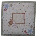 Beary Greetings Decoupage Heart Shaped Fold Card - envelope