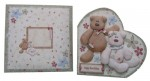 Beary Greetings Decoupage Heart Shaped Fold Card - finished set