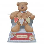 More Beary Greetings Decoupage Shaped Easel Card