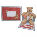More Beary Greetings Decoupage Shaped Easel Card - finished set