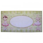 Ballet Shaped Tri Fold Card - envelope front