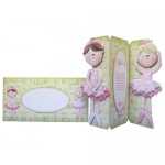 Ballet Shaped Tri Fold Card - finished set