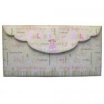 Ballet Shaped Tri Fold Card - envelope back