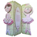 Ballet Shaped Tri Fold Card - view 1