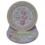 Floral Spray Decoupage Plate Easel Card