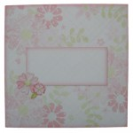 Floral Spray Decoupage Plate Easel Card - envelope