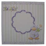 Welcome Little One Decoupage Shaped Fold Card - envelope