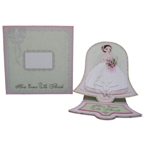 Wedding Belle Bell Shaped Easel Card - finished set
