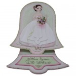 Wedding Belle Bell Shaped Easel Card - view 1