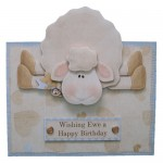 Greetings 2 Ewe! Decoupage Portrait Fold Over The Top Card
