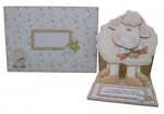 More Greetings 4 Ewe Decoupage Shaped Easel Card - finished set