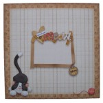 You're the Cat's Meow Decoupage Shaped Fold Card - envelope