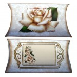 Timeless Roses Tri Fold Card & Gift Wrap Set - pillow box