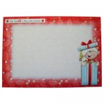 A Merry Little Elf Shaped Fold Card - envelope