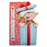 A Merry Little Elf Shaped Fold Card - view 1