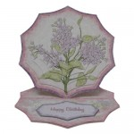Shabby Chic Lilacs Spider Web Pyramage Easel Card