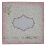 Shabby Chic Lilacs Spider Web Pyramage Easel Card - envelope
