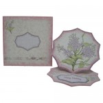 Shabby Chic Lilacs Spider Web Pyramage Easel Card - finished set
