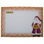 Believe In Santa Shaped Fold Card - envelope