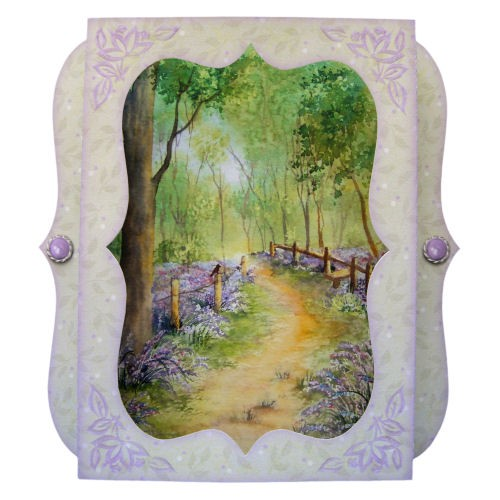 Bluebell Woods 7x7 Bracket Edge Shadow Box Fold Card - view 1