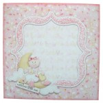 Baby Girl Rounded Corner Fold Card - envelope