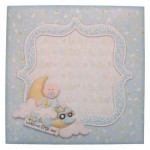 Baby Boy Rounded Corner Fold Card - envelope