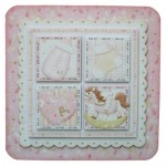 Baby Girl Rounded Corner Fold Card - view 1